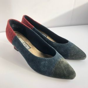 Vintage Leather Patchwork Pumps size 10